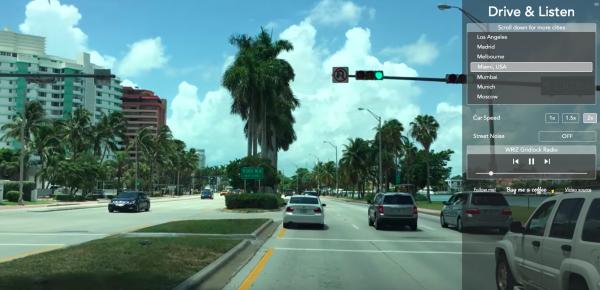 Drive & Listen in een wereldstad
