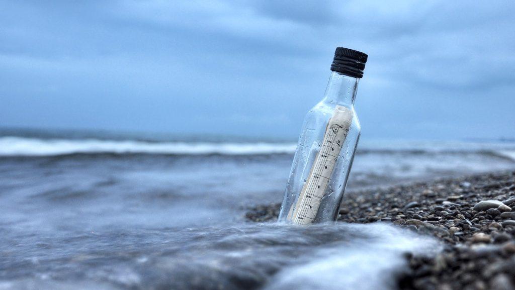 Flessenpost bereikt Engelse kust