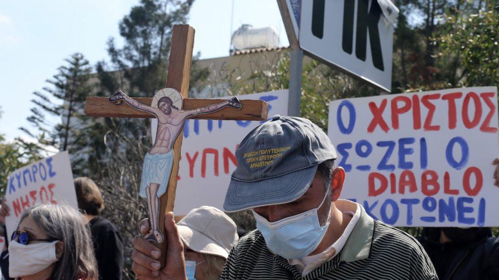 Gelovigen demonstreren tegen songfestivalinzending op Cyprus