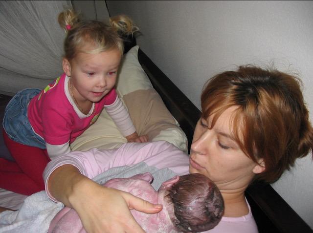 Claudia had een snelle bevalling
