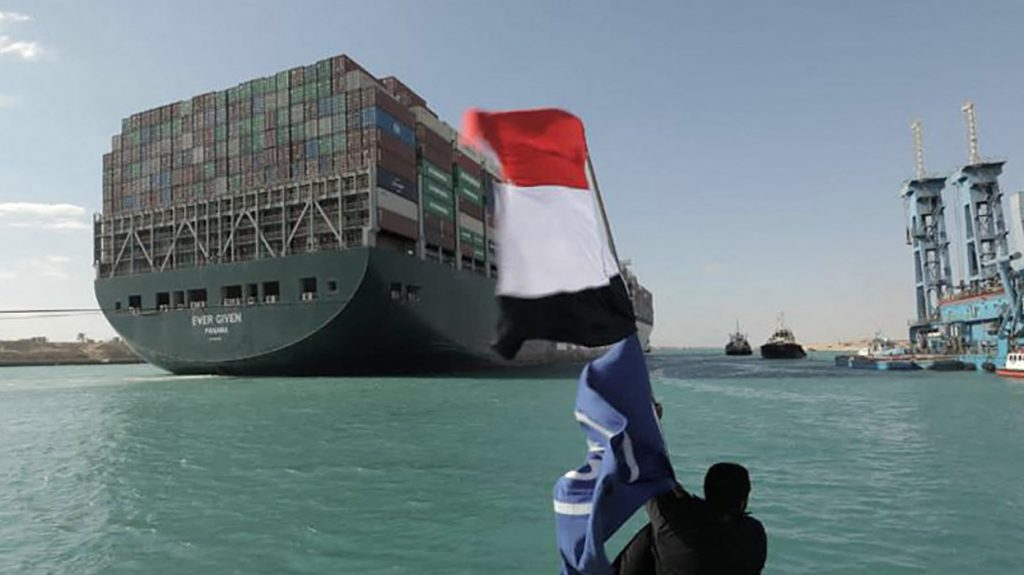 Suezkanaal file opgelost