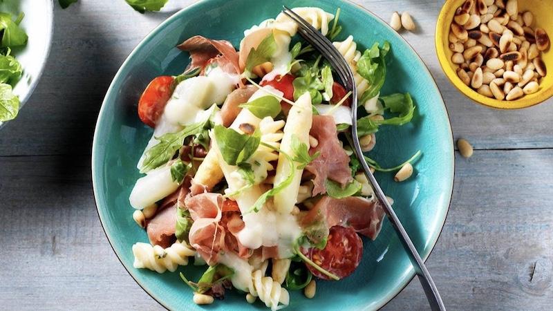 Asperge pastasalade