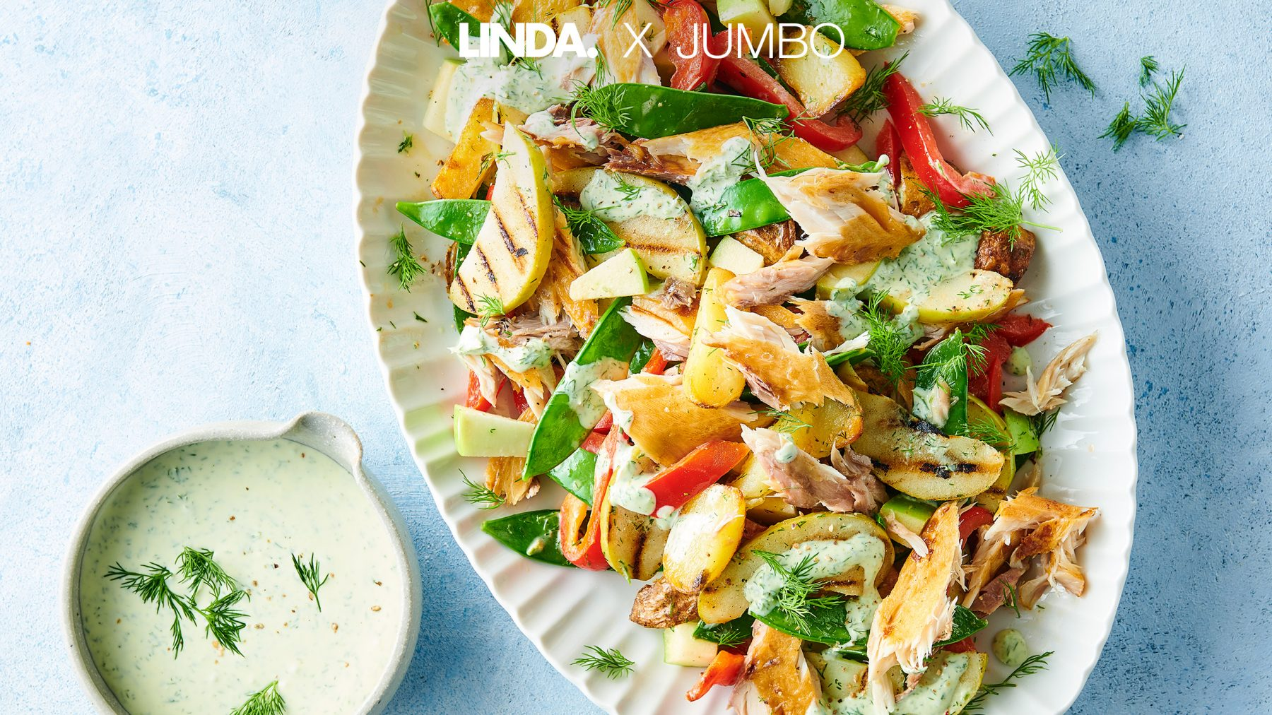Zomer op tafel met deze frisse salade met appel en makreel