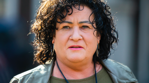 Fractievoorzitter BBB Caroline van der Plas boos op Songfestival