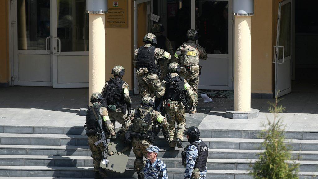 Schietpartij op school in Rusland
