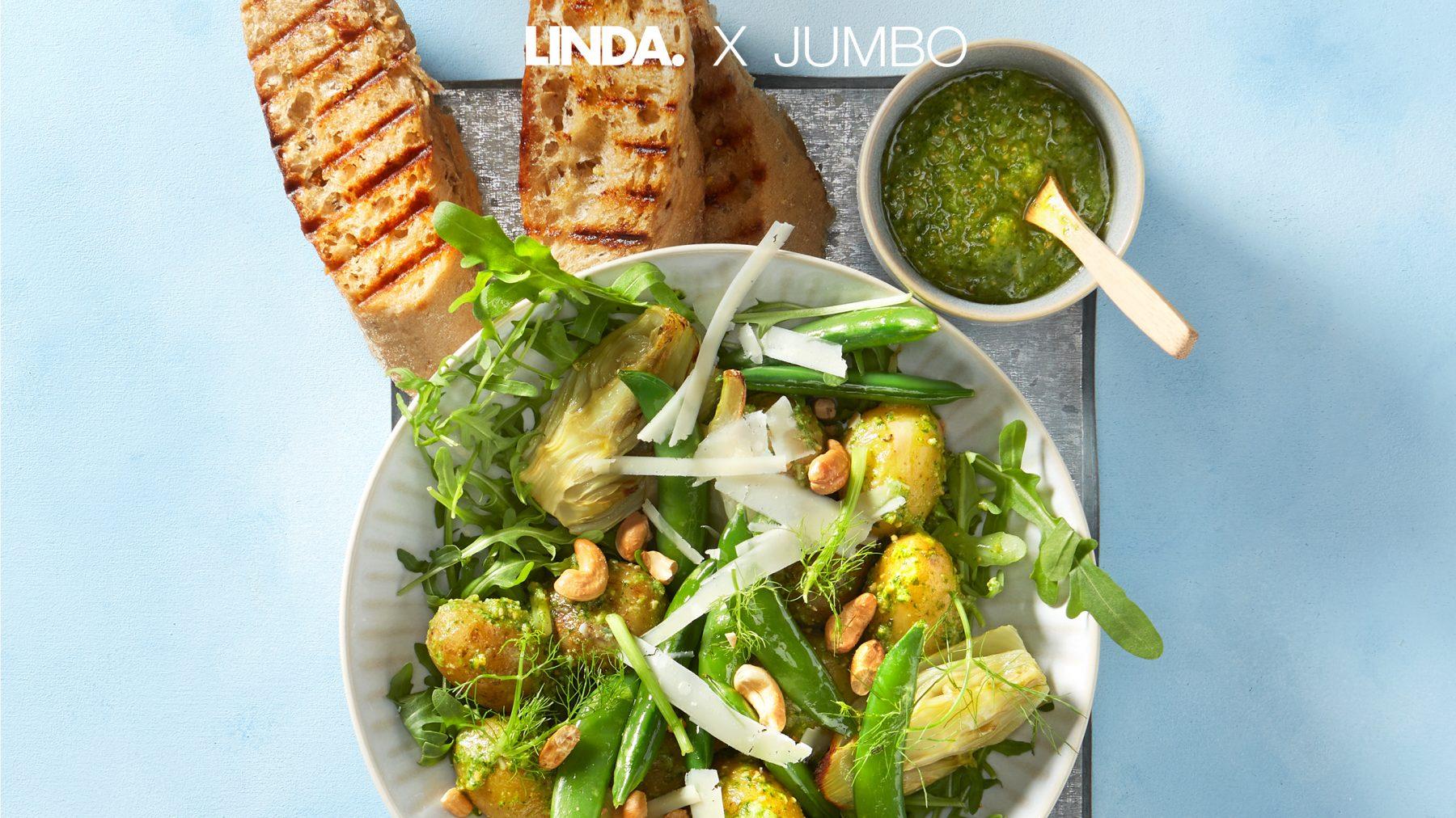 Lekker veel groen(te) op je bord met deze rijkgevulde maaltijdsalade