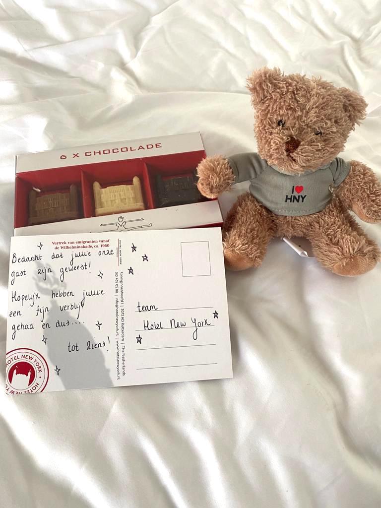 Sander Lantinga cadeau in hotel