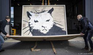 Thumbnail voor Muurschildering Banksy brengt 380.000 euro op in Zwolle (én gaat weer terug naar Engeland)