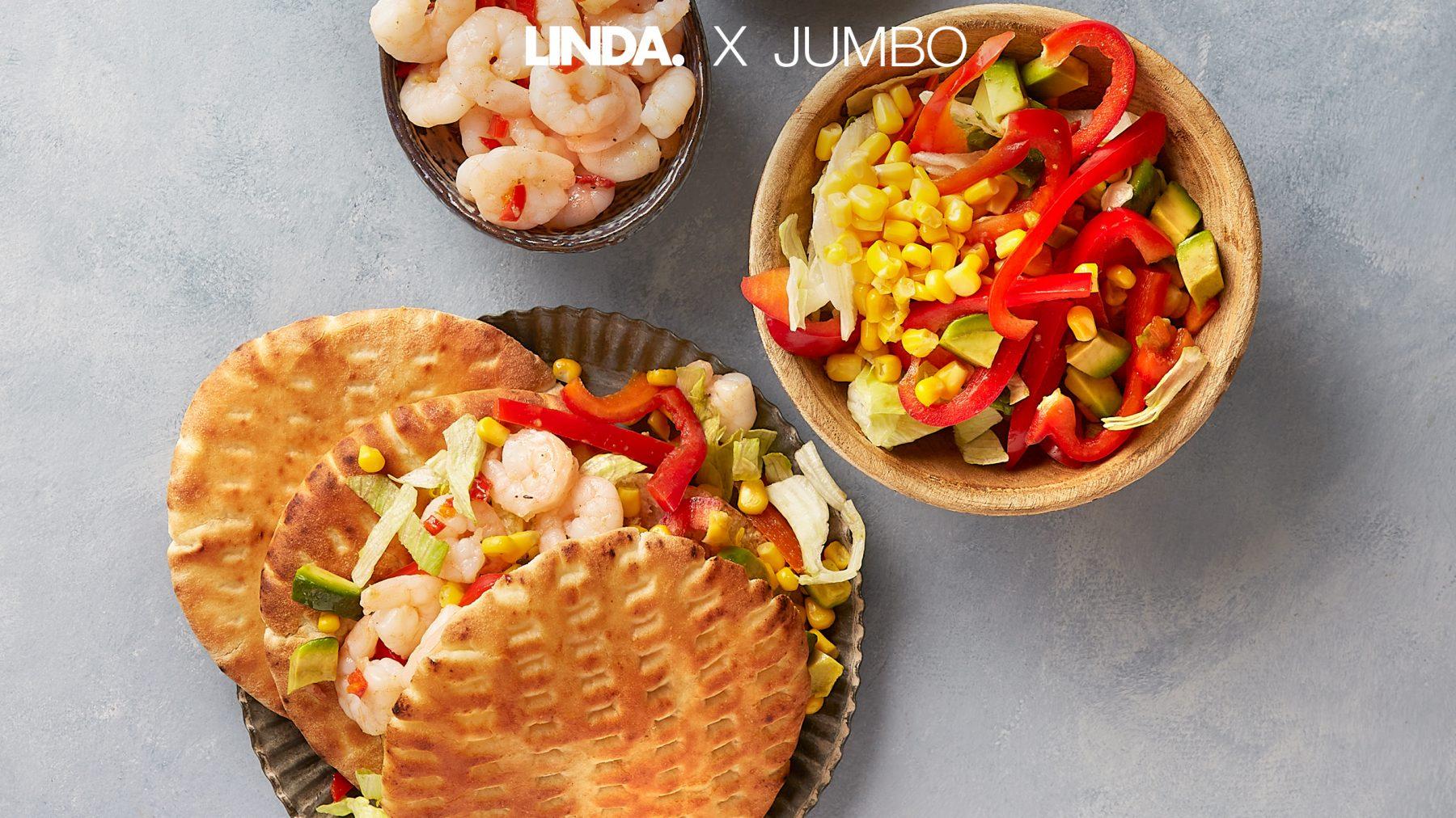 Word je vrolijk van: pittige pita's met een regenboogsalade (binnen 25 minuten)