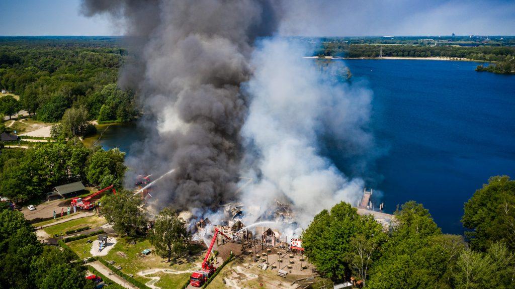 Grote brand in Safaripark Beekse Bergen