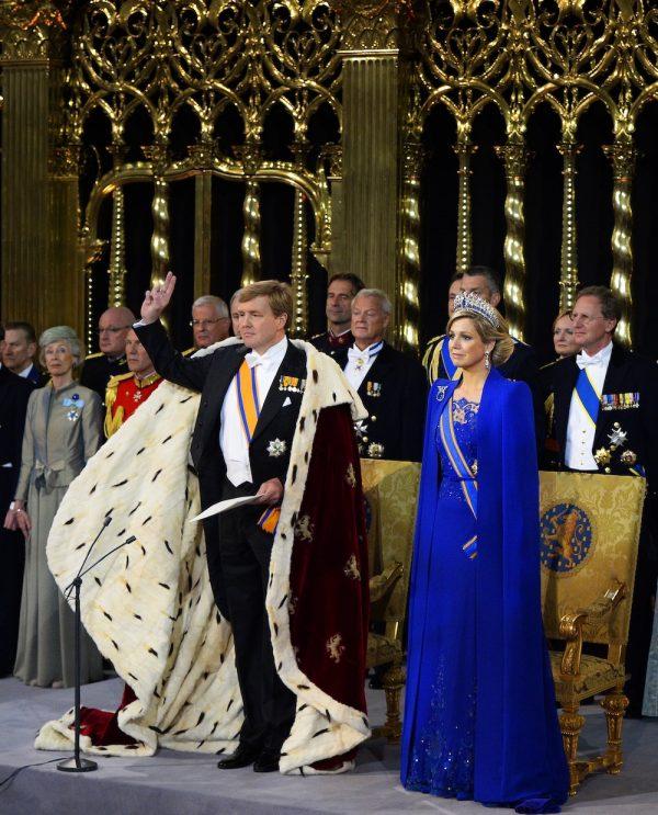 Máxima tijdens de inhuldiging van Willem-Alexander