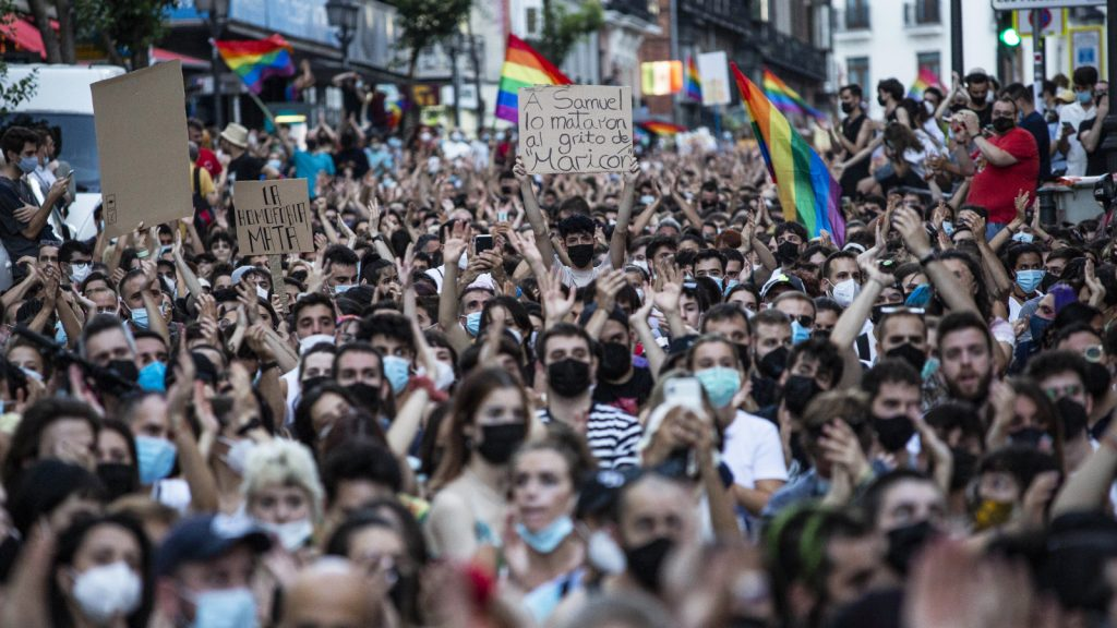 Vermeende homofobe aanval resulteert in massale protesten in Spanje