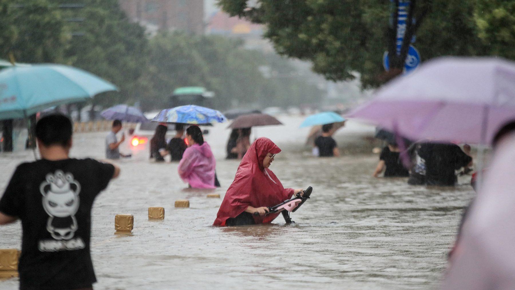 Zhengzhou wateroverlast