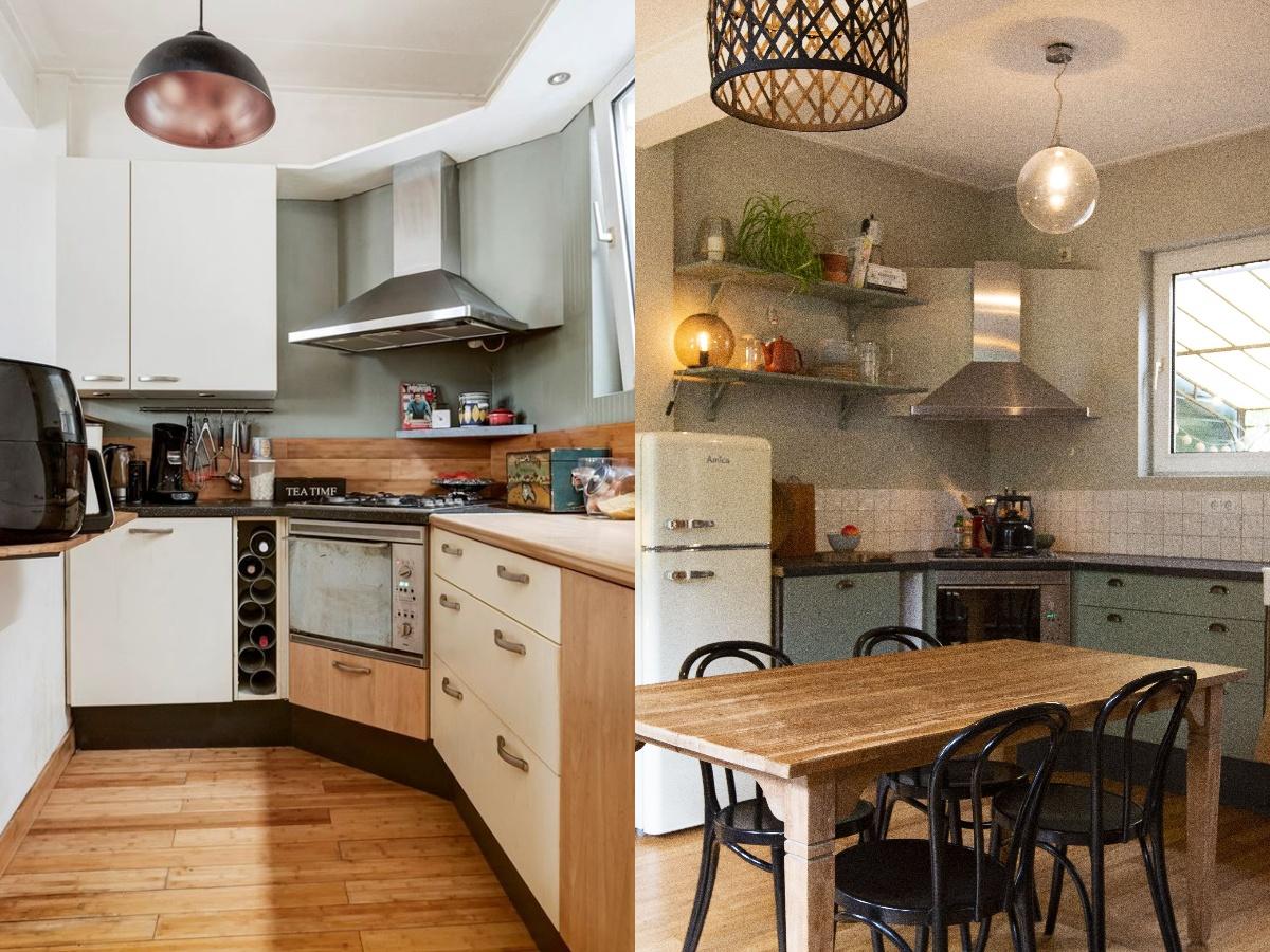keuken voor en na