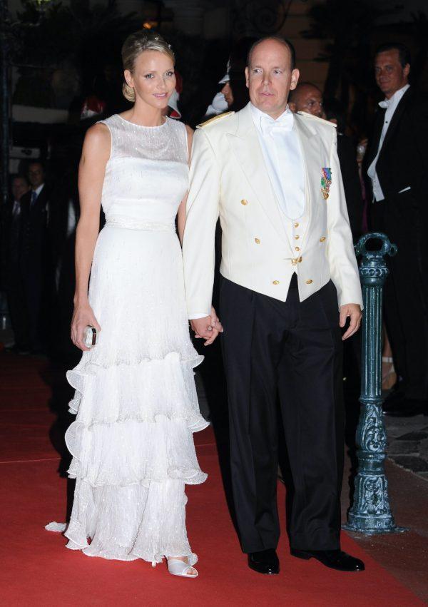 Charlene droeg meerdere trouwjurken