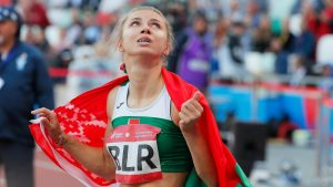 Thumbnail voor Atlete Tsimanoeskaja krijgt visum en steun van Polen