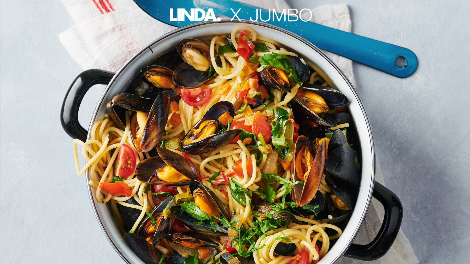 Maak een Italiaans pannetje vol lekkers: spaghetti, mosselen en lekker veel groenten