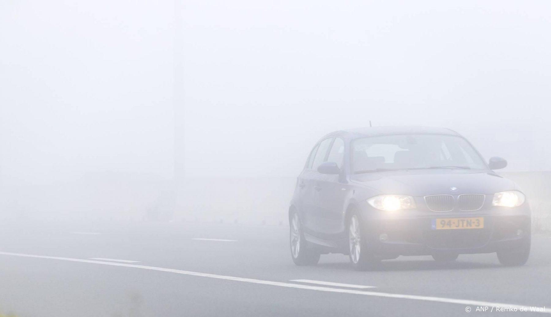 Code geel wegens dichte mist in delen van Nederland