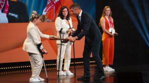 Thumbnail voor Goudenmedaillewinnaars Paralympische Spelen geridderd in Den Haag