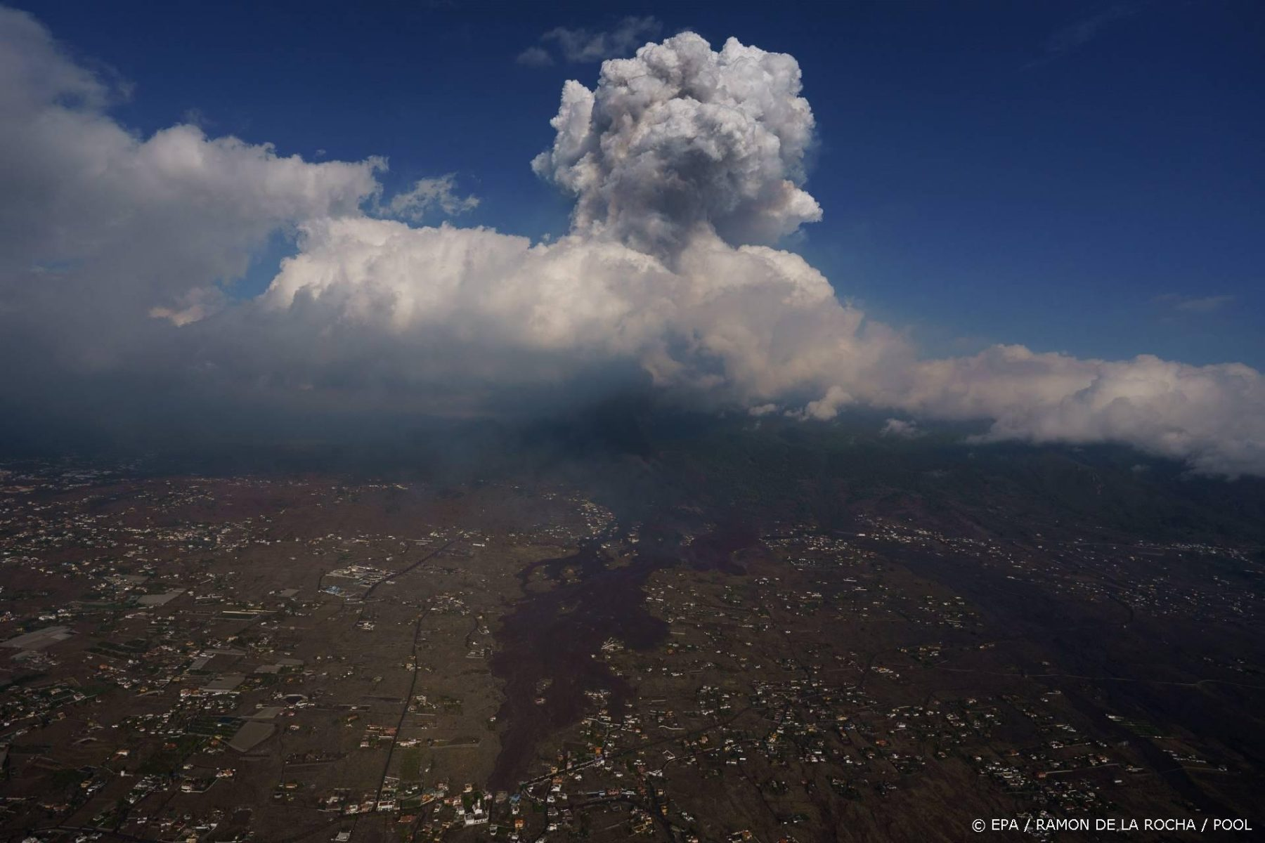 Giftige wolk van vulkaanuitbarsting La Palma komt onze kant op