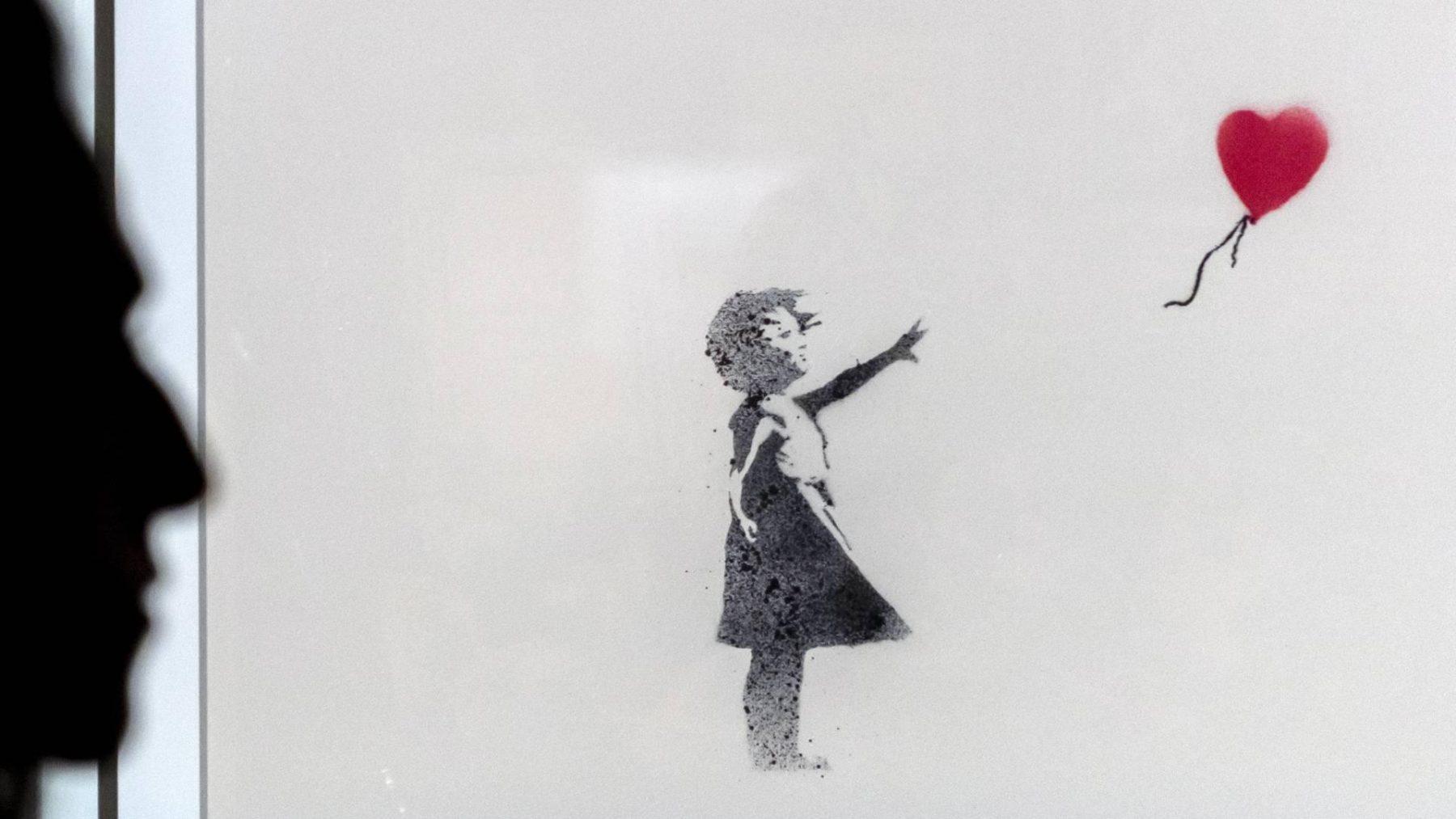 Girl with Balloon van Banksy voor 3,1 miljoen pond geveild