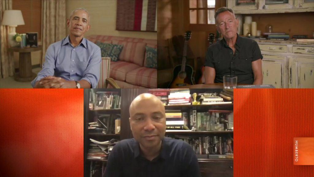 Barack Obama en Bruce Springsteen bij Humberto